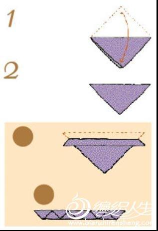围巾的基本折法之三角形折叠法