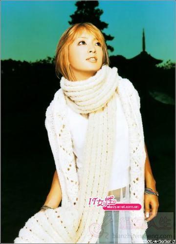 日本女星教你围巾时尚搭配