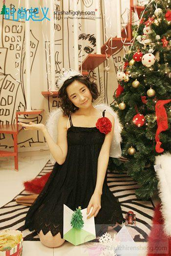 甜美可爱 韩式圣诞约会装扮
