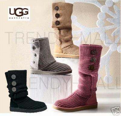 毛线靴子--网友编织与UGG的pk
