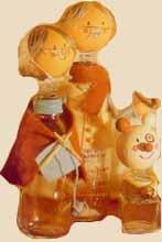 旧物利用 瓶子废物改造 制作可爱瓶子娃娃图解