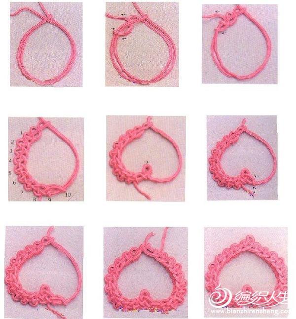 中国结艺之心形结的图解步骤