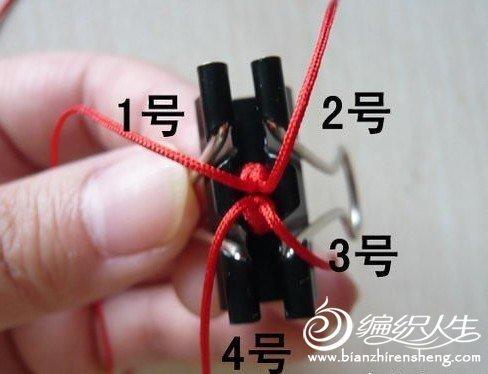 手工DIY 金刚结手链的编法教程