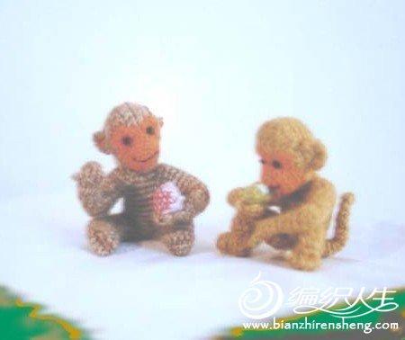 手工毛线玩偶  小猴子作品欣赏