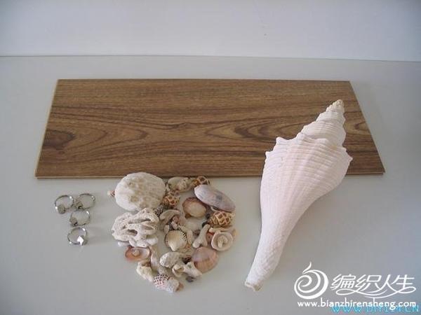 变废为宝小制作 木地板边角料和贝壳制作个性小夜灯