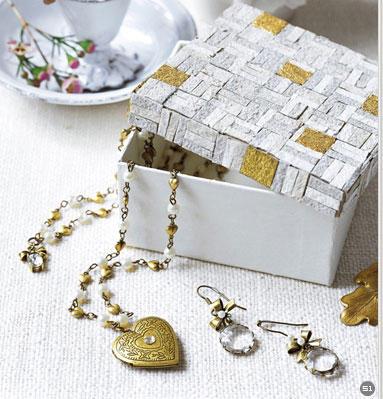 变废为宝手工小制作 旧纸盒变身漂亮储物盒