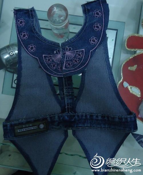旧物利用手工制作 旧牛仔裤改造马甲图解教程