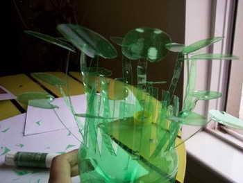 变废为宝diy手工小制作 雪碧瓶制作花瓶图解教程