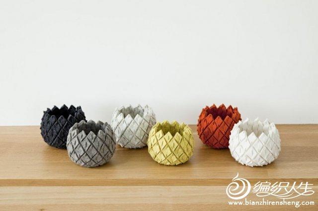 创意diy布艺手工制作 不用装水的花瓶