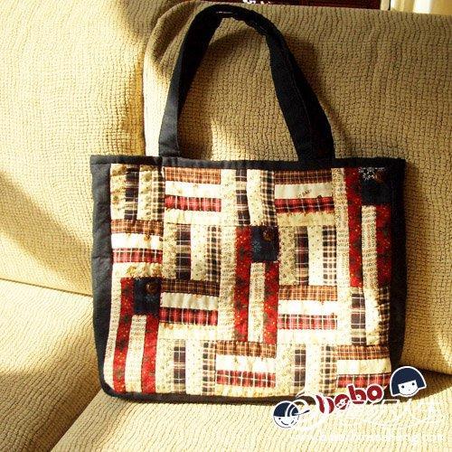 创意手工达人的拼布包包图片