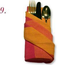 一款餐桌布艺的别致折叠步骤