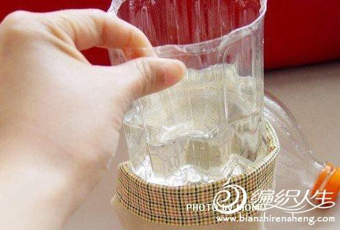 旧雪碧瓶简单手工diy水培花盆的过程