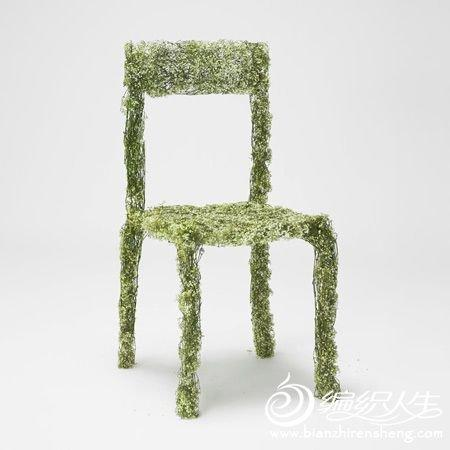 手工DIY制作创意编织花朵桌椅