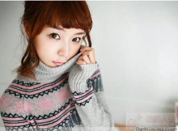 可爱的中学生毛衣