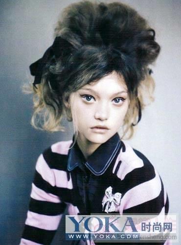 世界顶级名模Gemma魅力发型秀