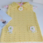 黃色寶寶背心裙--青瓜手工毛衣