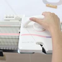 LK150快乐编织机---编织样片及测量密度(第九集)