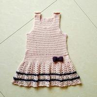 宝贝的幼儿园新装之钩针背心裙及小绵羊挎包