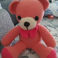 粉色大熊娃娃 大型玩偶编织图解