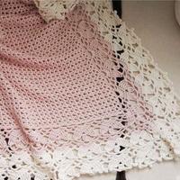 100%手编棉钩织的童毯