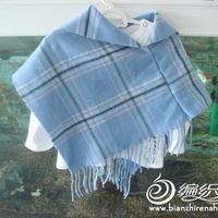 用围巾改造时尚宝宝小披肩的教程