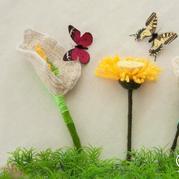 趣味手工钩针毛线小织物 六款钩针编织花卉