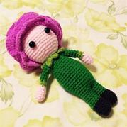 lalylala玫瑰娃娃钩针娃娃玩偶图解教程