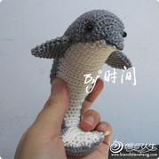 跳跃的小海豚 钩针海豚玩偶图解教程