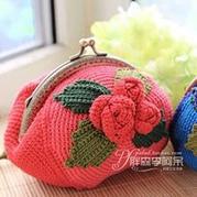中国风立体玫瑰花口金包钩法视频