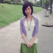 青青紫衿 云马折纸式钩针开衫