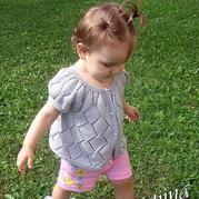 从上往下织的镂空菱形儿童开衫视频教程
