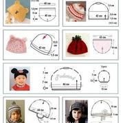 手编宝宝帽子帽围帽深尺寸说明