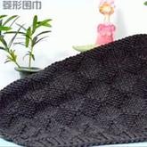 经典格子围巾之棒针菱形格围巾织法视频