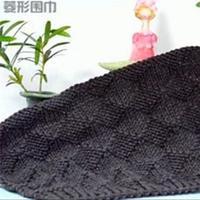 經典格子圍巾之棒針菱形格圍巾織法視頻