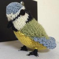 编织蓝冠山雀 棒针鸟类玩偶文字图解