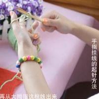 编织人生视频学堂第1集 手指挂线的起针方法