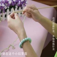 奔驰娱乐视频学堂第4集 边织边起起针法、手指绕线起针法