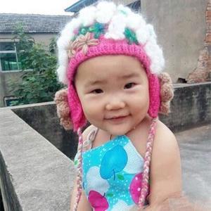 花开未满 宝宝花朵棒针护耳帽