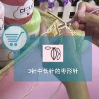 编织人生视频学堂第37集 3针中长针的枣形针