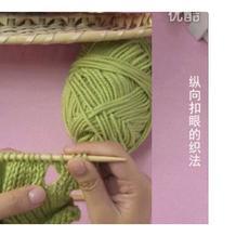 编织人生视频学堂第42集 纵向扣眼的织法