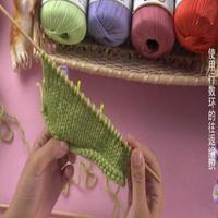编织人生视频学堂第63集 棒针使用行数环的往返编织