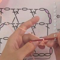 编织人生视频学堂第108集 1针长针的交叉针(右上)