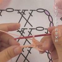 编织人生视频学堂第110集 1针与2针长针的交叉针