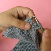 单桂花针法 教您织男士围巾 手工编织 第5集 棒针花样围巾花样