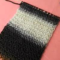 水纹花针法 教您织围巾 手工编织 第13集 棒针花样围巾花样
