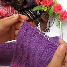 方块针法花样 围巾编织 第15集 棒针花样围巾花样