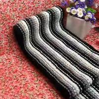 平针竖条纹 编织围巾毛线教程 第18集 棒针花样围巾花样