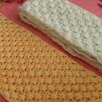 棒针菠萝花 如何织菠萝花 第19集 棒针花样围巾花样