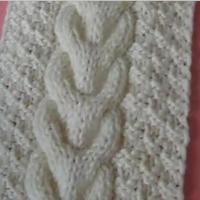 蟠桃花针法(扭麻花) 手工编织围巾 第20集 棒针花样围巾花样