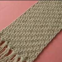 斜纹花针法 手工编织围巾 第21集 棒针花样围巾花样
